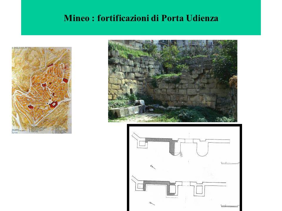 Mineo : fortificazioni di Porta Udienza