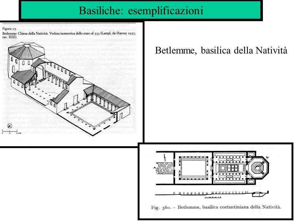 Basiliche: esemplificazioni Betlemme, basilica della Natività