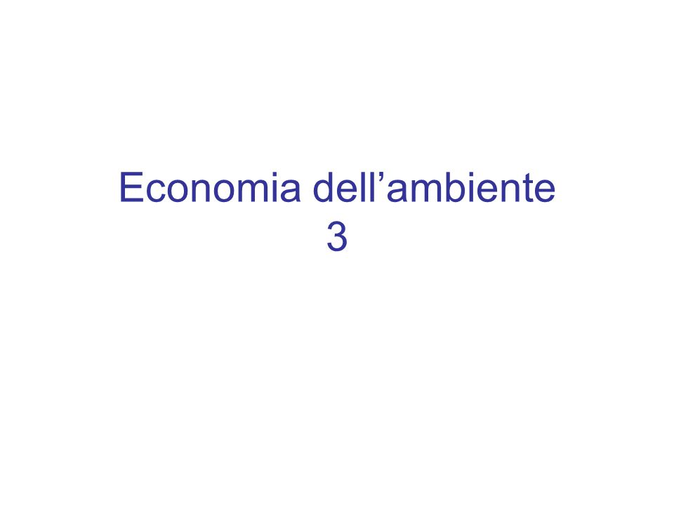 Economia dellambiente 3