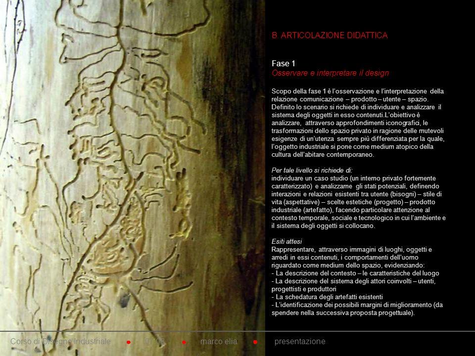 10. B. ARTICOLAZIONE DIDATTICA Fase 1 Osservare e interpretare il design Scopo della fase 1 è losservazione e linterpretazione della relazione comunic