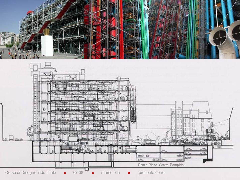 Renzo Piano. Centre Pompidou Corso di Disegno Industriale 07.08 marco elia presentazione I territori del design
