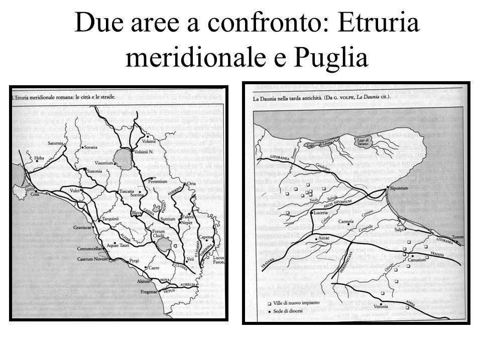Due aree a confronto: Etruria meridionale e Puglia