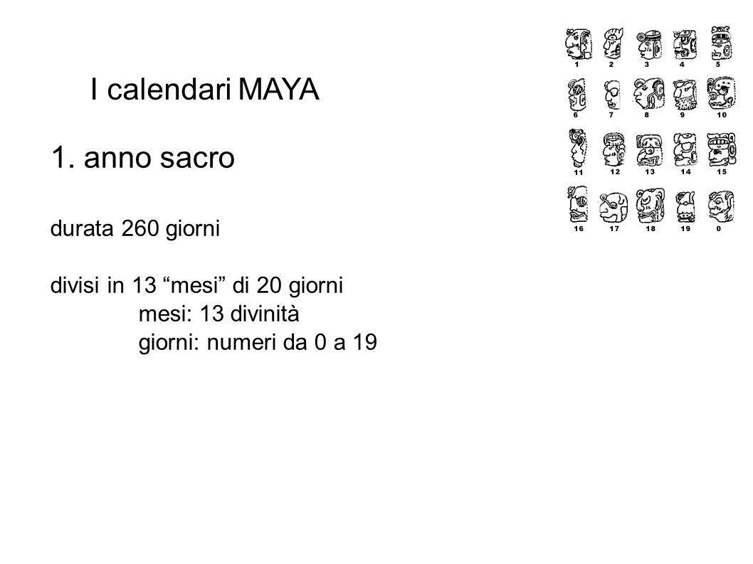 I calendari MAYA 1.
