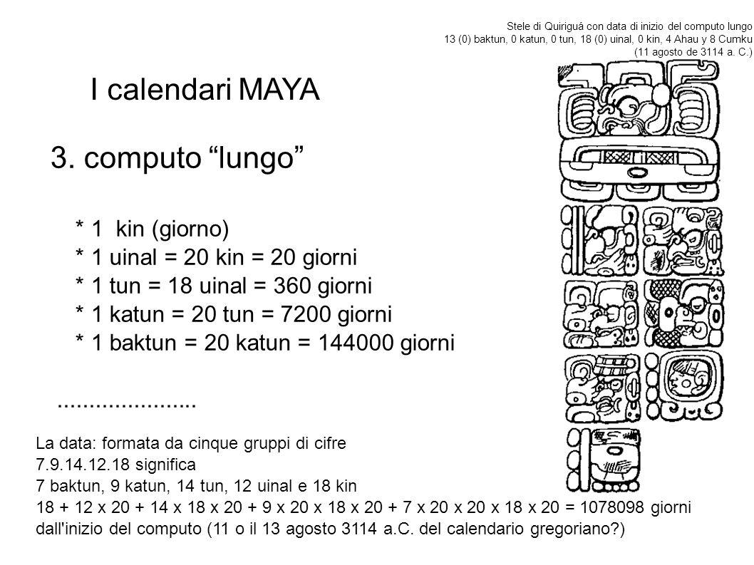 I calendari MAYA 3.