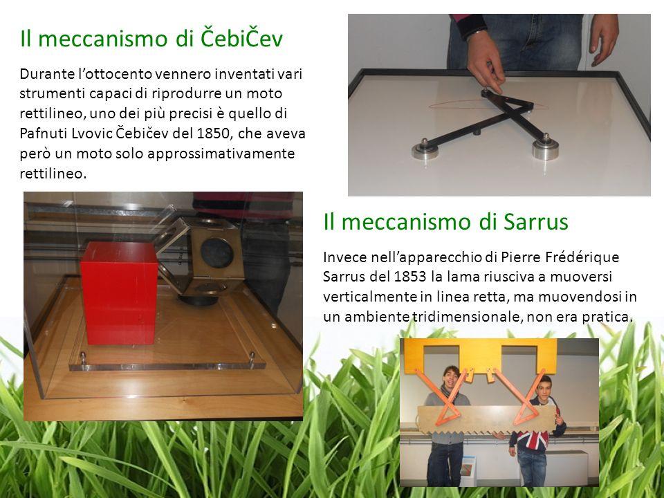 Il meccanismo di ČebiČev Durante lottocento vennero inventati vari strumenti capaci di riprodurre un moto rettilineo, uno dei più precisi è quello di
