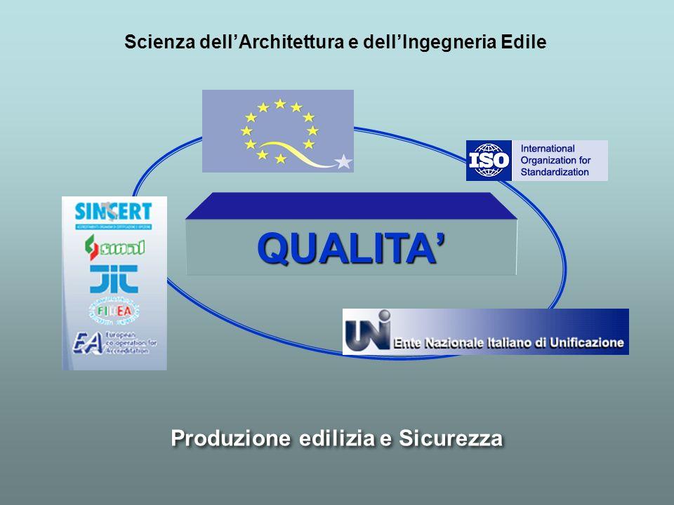 Produzione edilizia e Sicurezza Scienza dellArchitettura e dellIngegneria Edile QUALITA