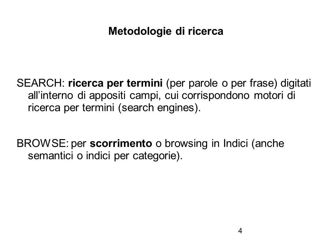 Firenze, 22 ottobre 2010 Metamotori / Meta search engine / Meta-Indici 3.