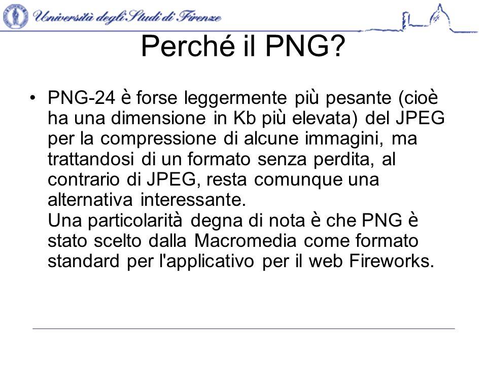 Perché il PNG.