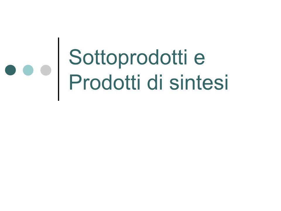 Sottoprodotti e Prodotti di sintesi