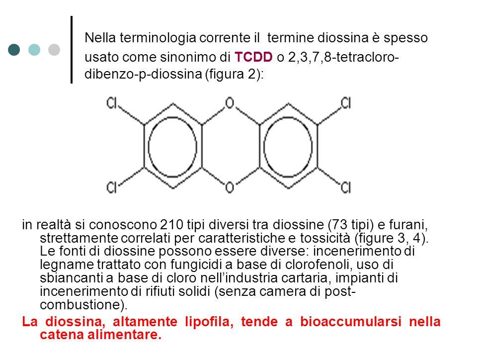 Nella terminologia corrente il termine diossina è spesso usato come sinonimo di TCDD o 2,3,7,8-tetracloro- dibenzo-p-diossina (figura 2): in realtà si