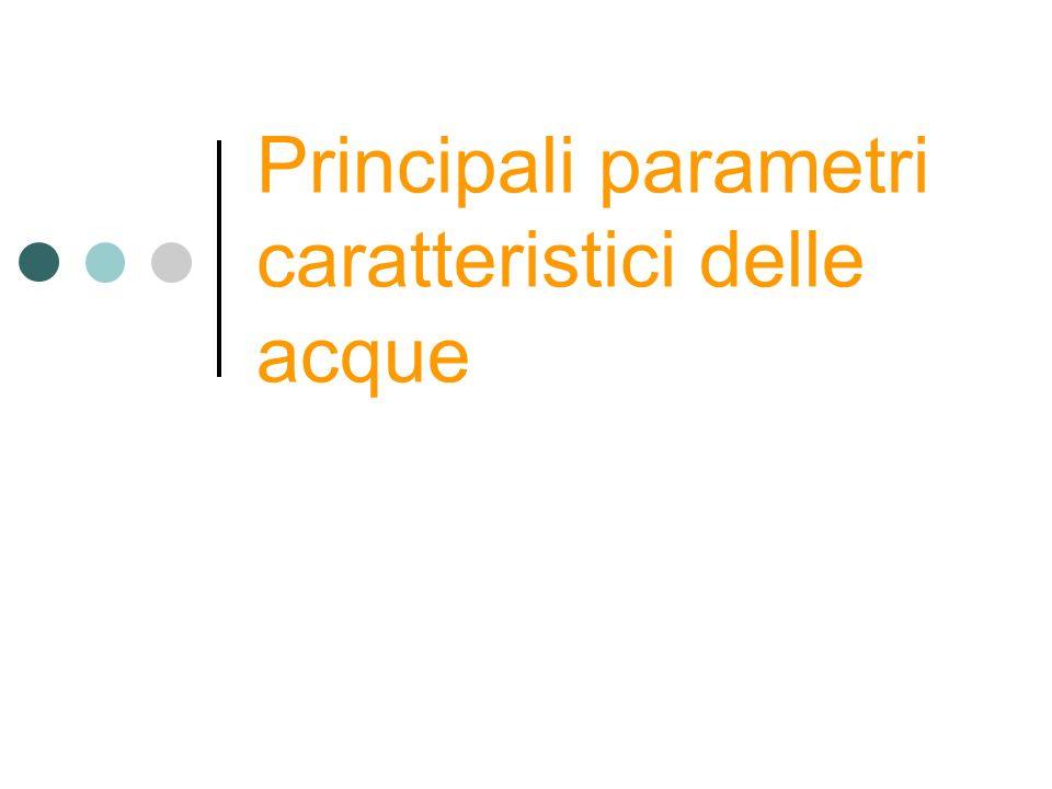 Principali parametri caratteristici delle acque