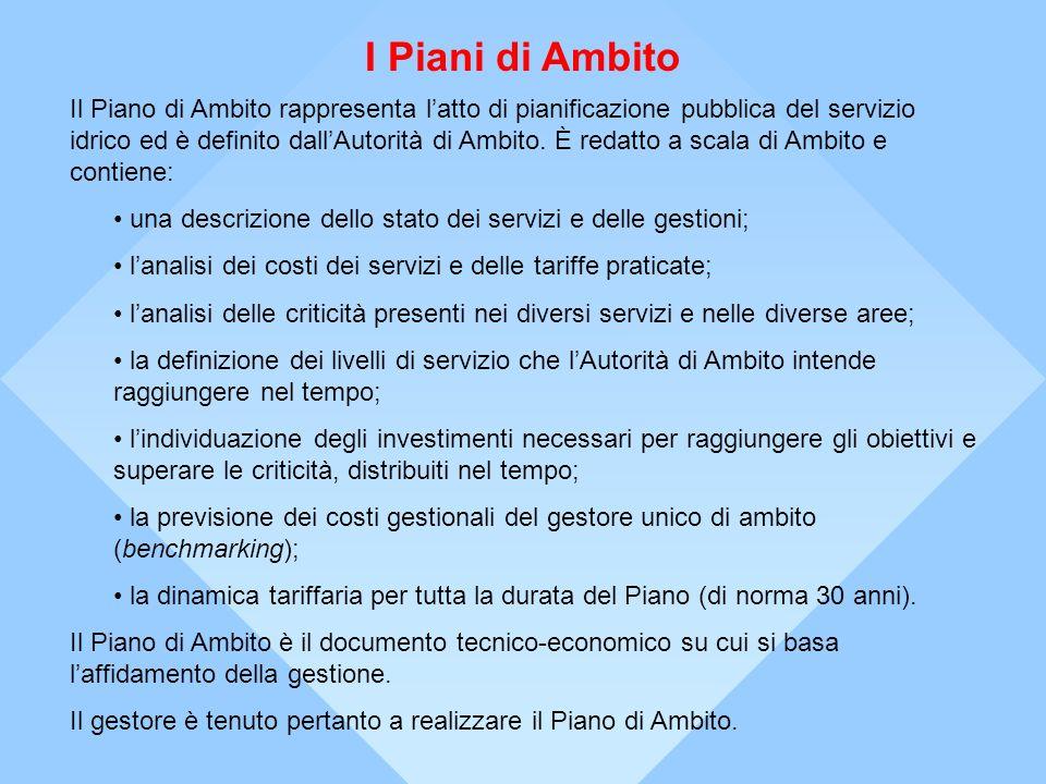 La situazione Toscana (1) Lultima fase del processo di riorganizzazione del servizio idrico in Toscana è stata lapertura al mercato delle aziende pubbliche identificate come gestori unici di Ambito.