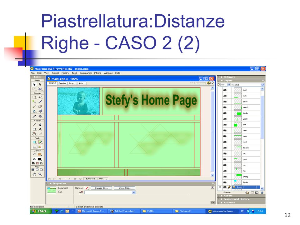 12 Piastrellatura:Distanze Righe - CASO 2 (2)