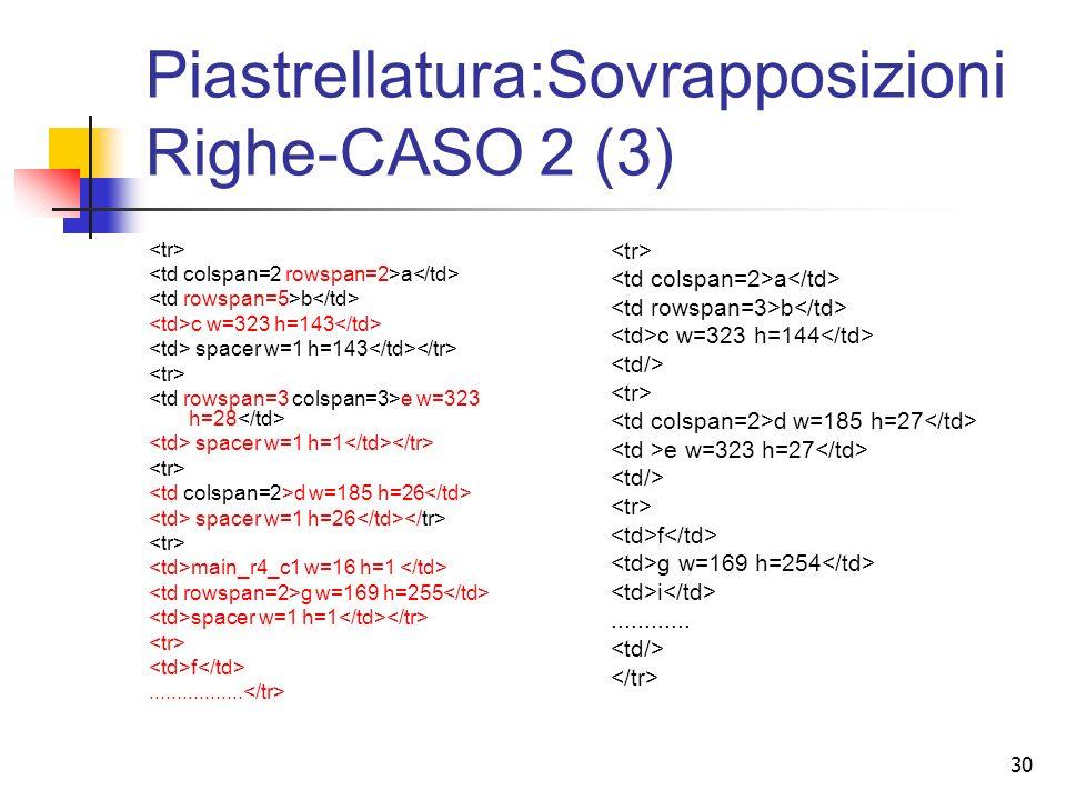 30 Piastrellatura:Sovrapposizioni Righe-CASO 2 (3) a b c w=323 h=143 spacer w=1 h=143 e w=323 h=28 spacer w=1 h=1 d w=185 h=26 spacer w=1 h=26 main_r4_c1 w=16 h=1 g w=169 h=255 spacer w=1 h=1 f.................