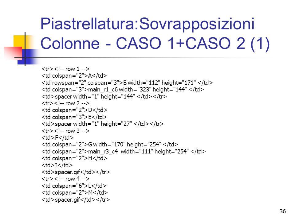 36 Piastrellatura:Sovrapposizioni Colonne - CASO 1+CASO 2 (1) A B width=