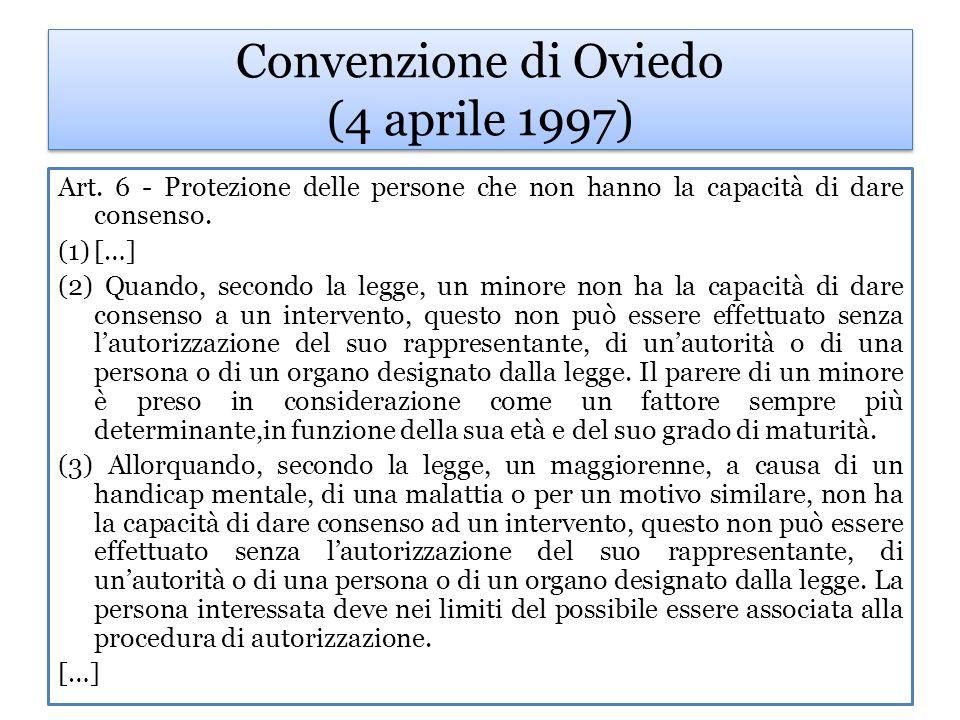 Convenzione di Oviedo (4 aprile 1997) Art.9 - Desideri precedentemente espressi.