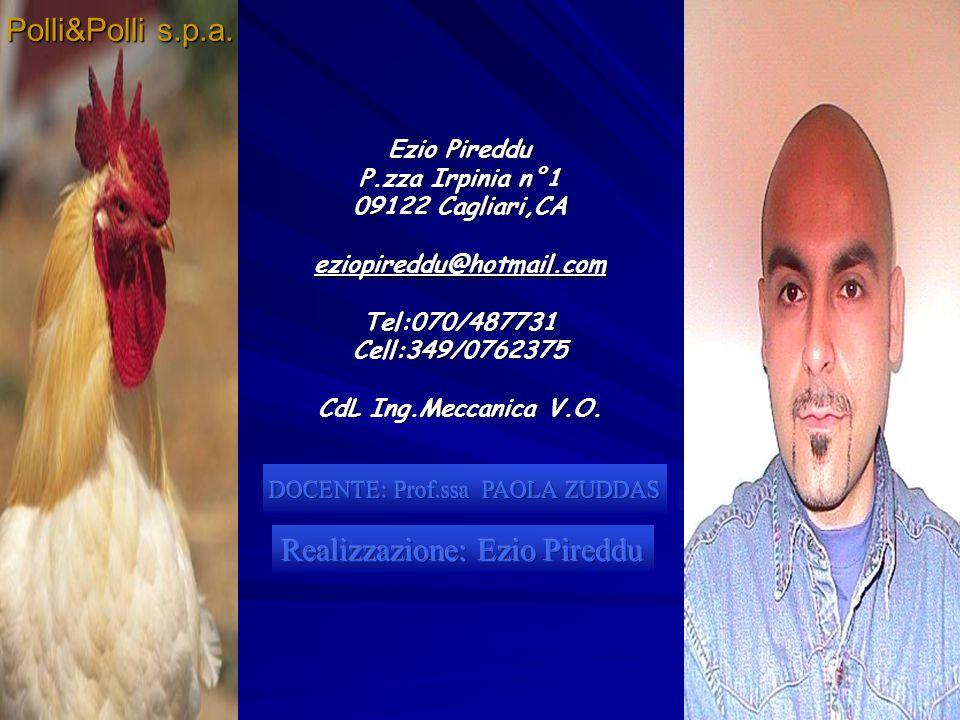 2 Ezio Pireddu P.zza Irpinia n°1 09122 Cagliari,CA eziopireddu@hotmail.comTel:070/487731Cell:349/0762375 CdL Ing.Meccanica V.O. Polli&Polli s.p.a.