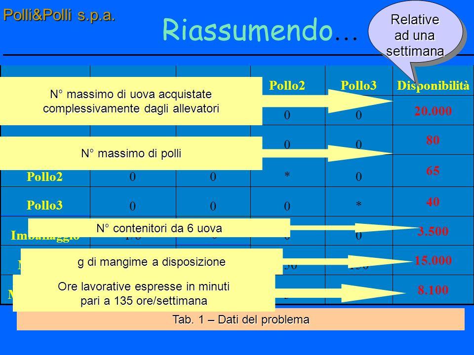 Input-Output Polli&Polli mangime Polli e uova Materiale da imballaggio Manodopera Polli&Polli s.p.a.