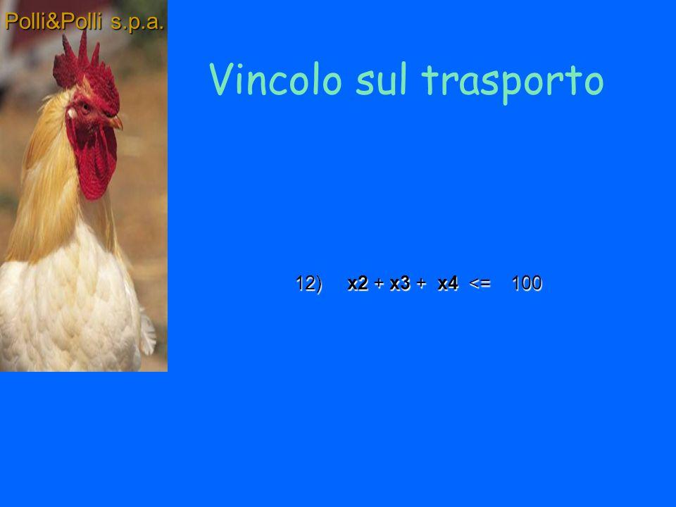 I Vincoli di mercato Polli&Polli s.p.a.