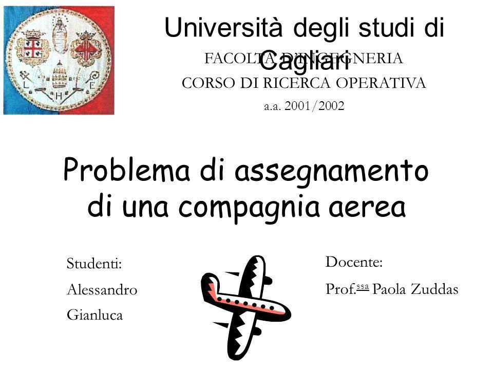 FACOLTA DINGEGNERIA CORSO DI RICERCA OPERATIVA a.a.