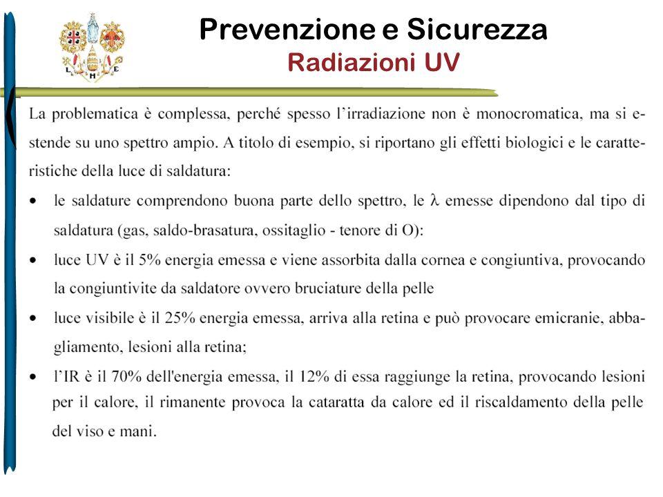 Prevenzione e Sicurezza Radiazioni UV