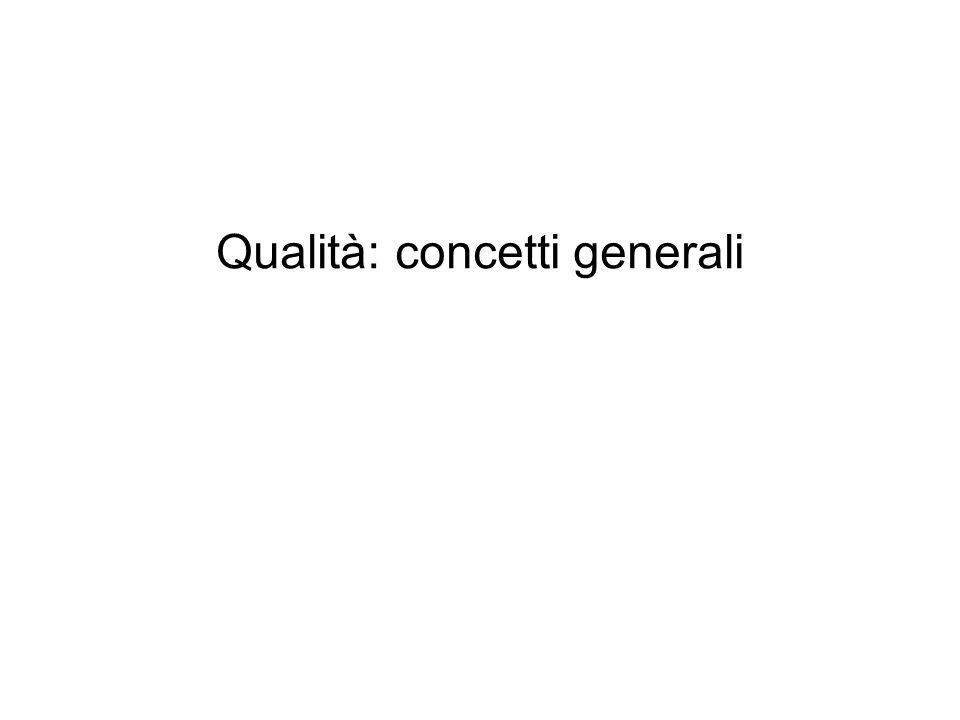 Qualità: concetti generali