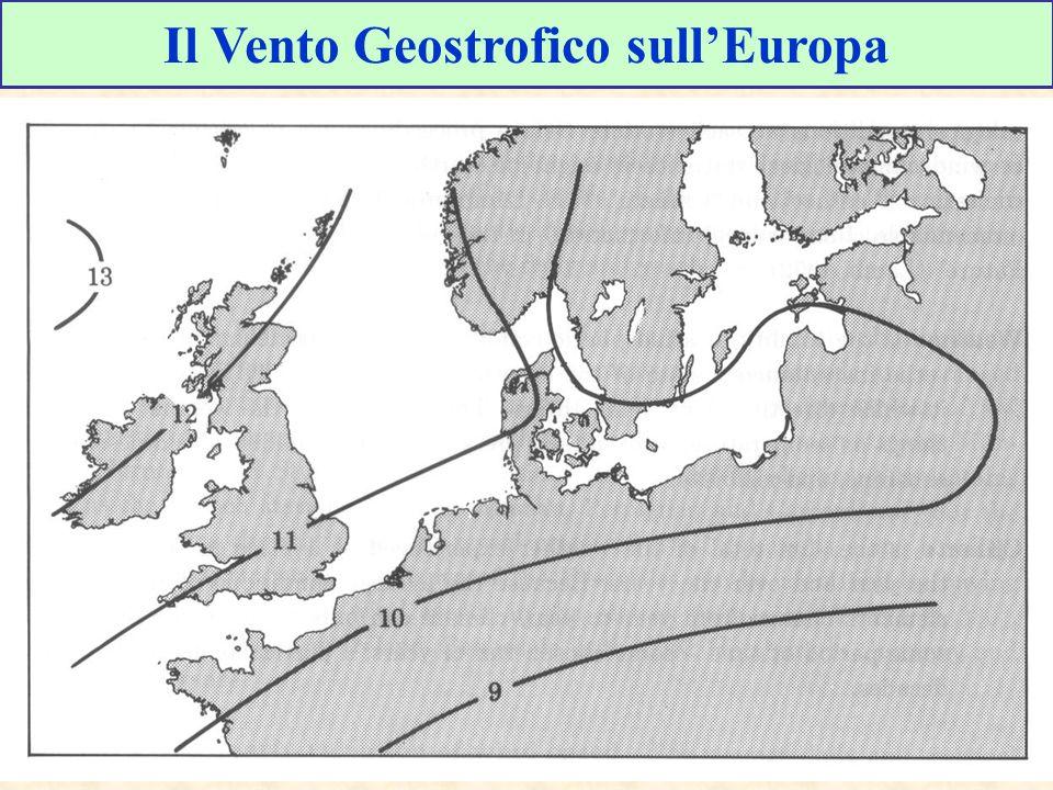 Il Vento Geostrofico sullEuropa