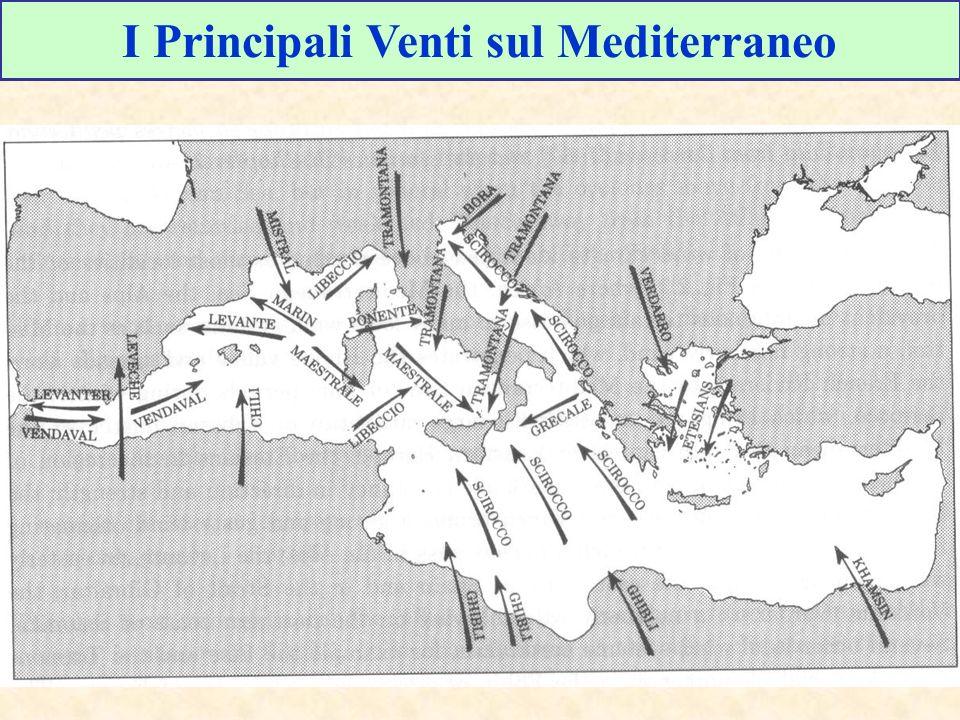 I Principali Venti sul Mediterraneo