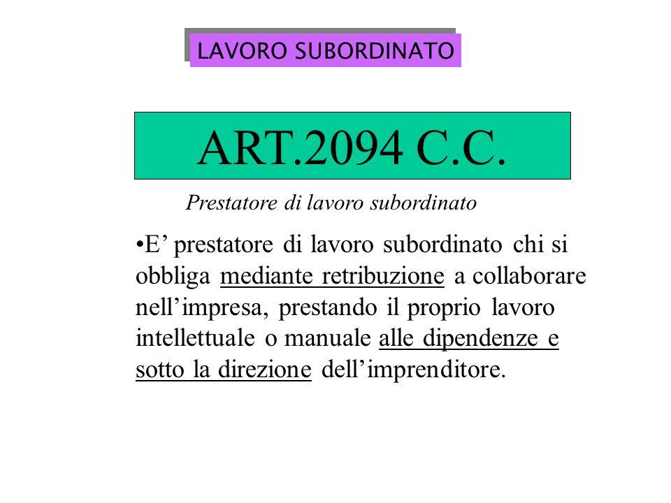 LAVORO AUTONOMO ART.2222 C.C.