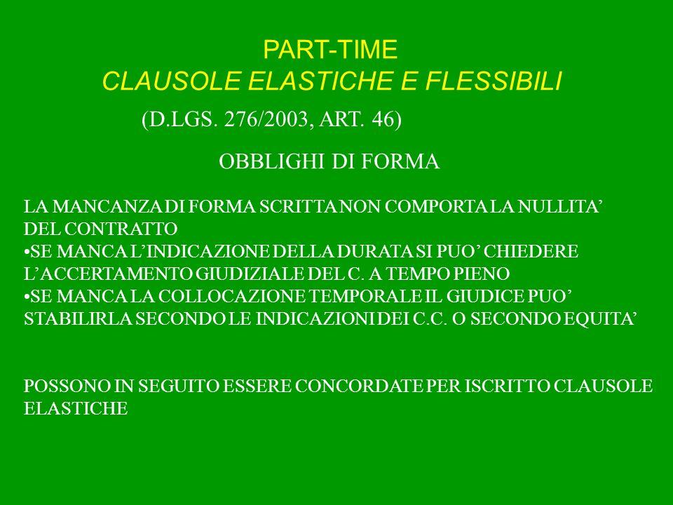PART-TIME LAVORO SUPPLEMENTARE (D.LGS.61/2001, art.