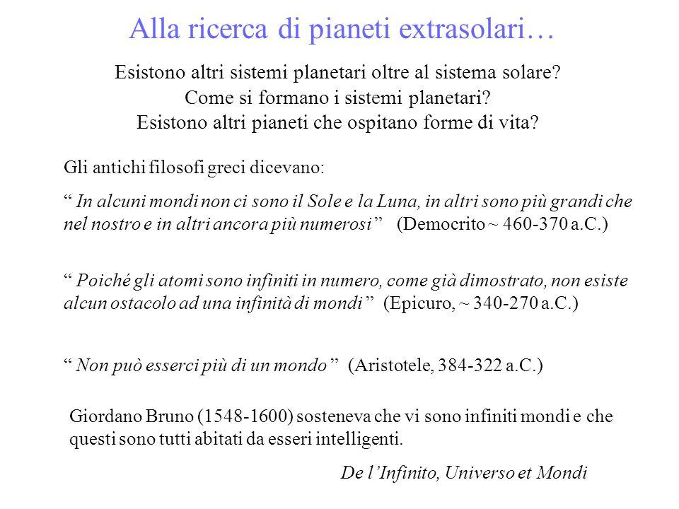 Esistono altri sistemi planetari oltre al sistema solare? Come si formano i sistemi planetari? Esistono altri pianeti che ospitano forme di vita? Gli