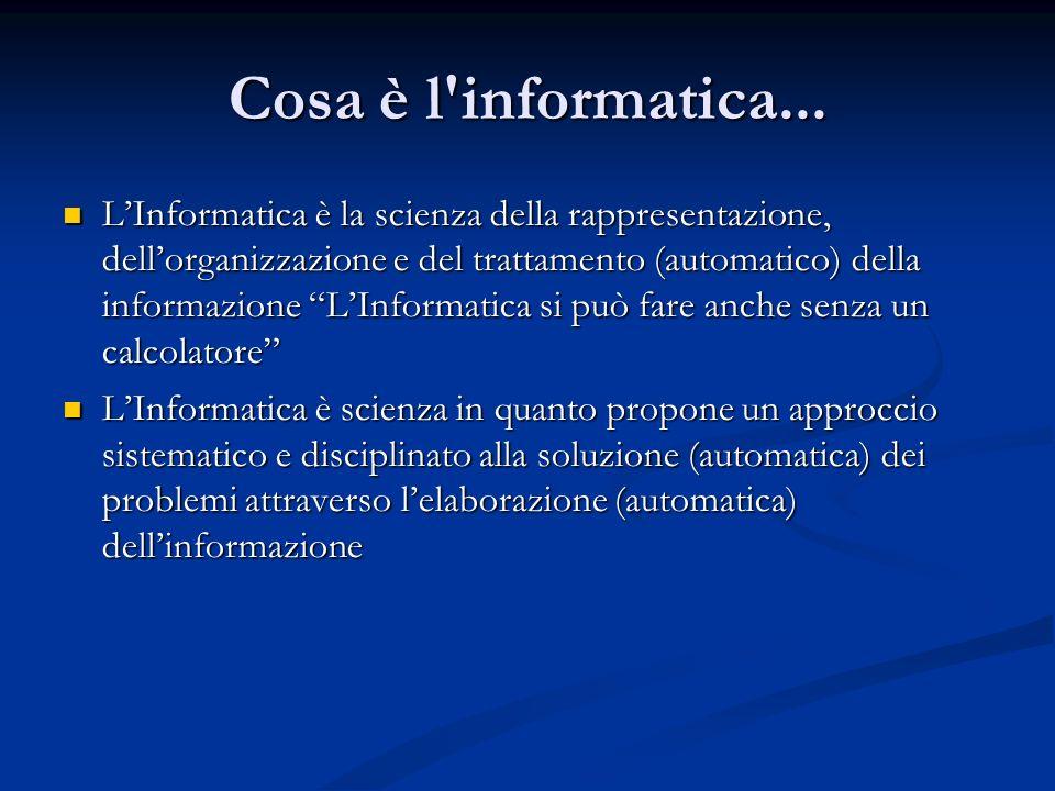 ...cosa è l informatica...