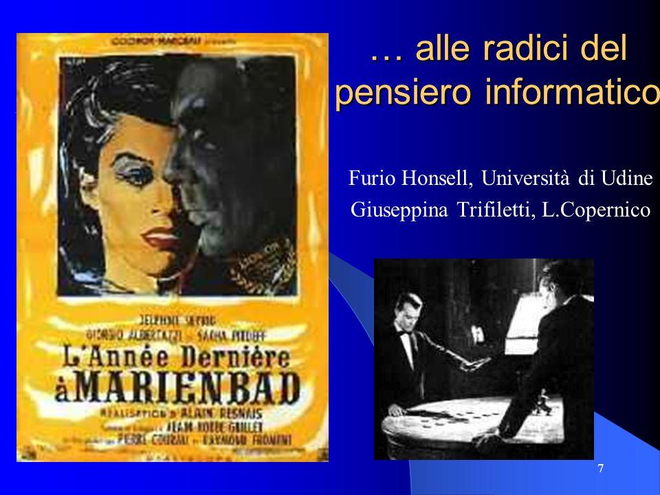 7 … alle radici del pensiero informatico Furio Honsell, Università di Udine Giuseppina Trifiletti, L.Copernico