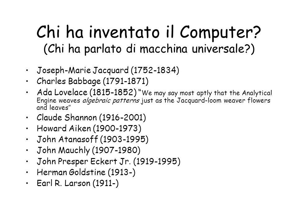 Chi ha inventato il Computer.