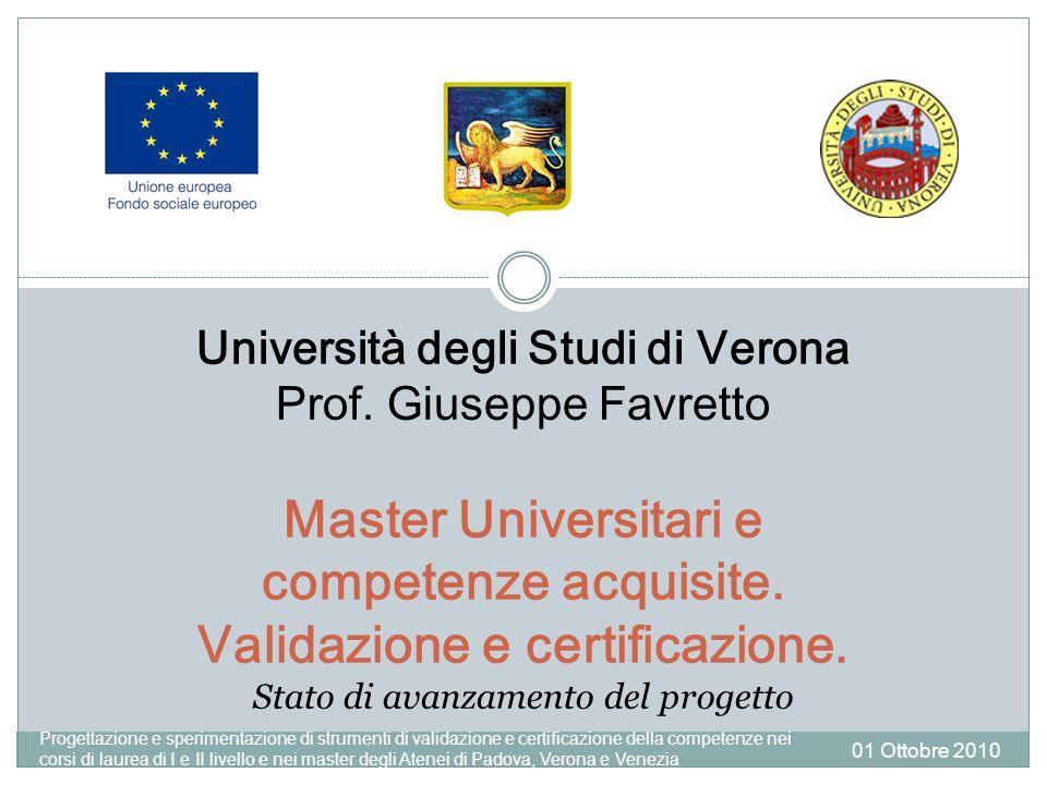 Università degli Studi di Verona Prof.