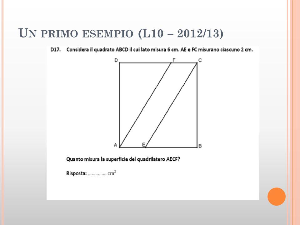 U N PRIMO ESEMPIO (L10 – 2012/13)
