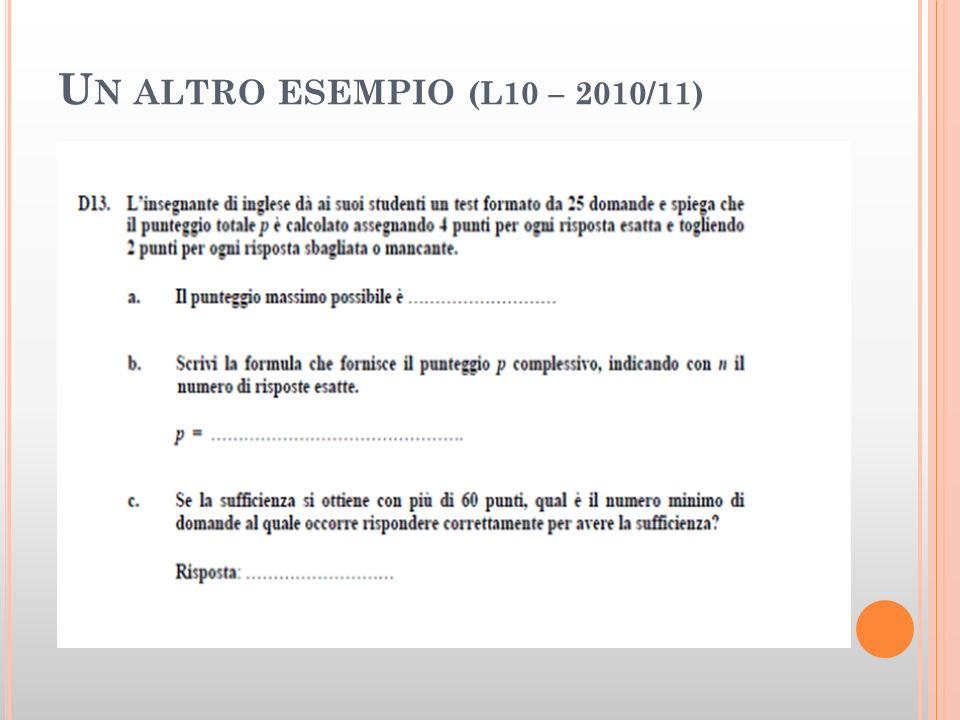 U N ALTRO ESEMPIO (L10 – 2010/11)