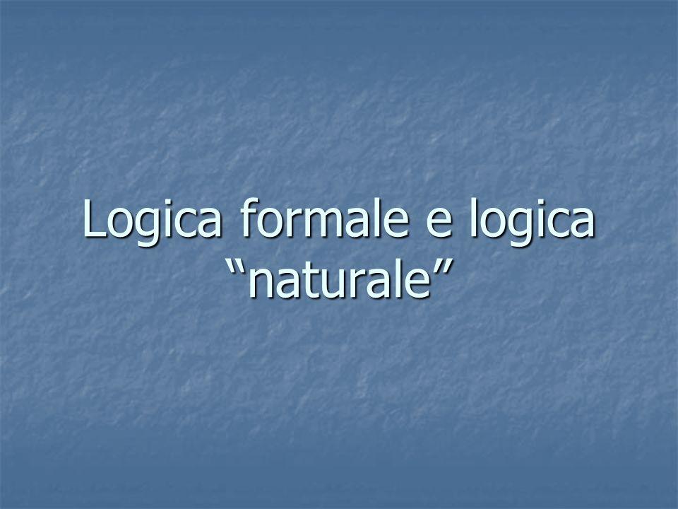 Logica formale e logica naturale