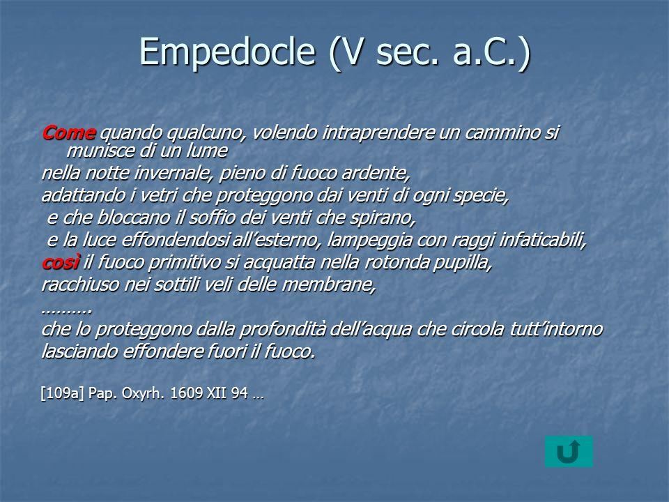 Empedocle (V sec.