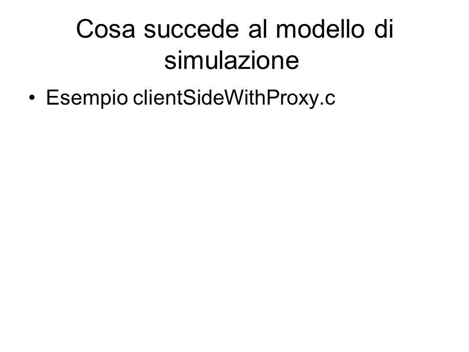 Cosa succede al modello di simulazione Esempio clientSideWithProxy.c