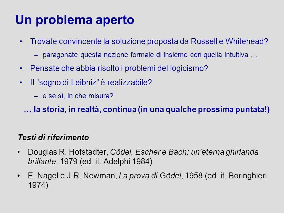 Douglas R. Hofstadter, Gödel, Escher e Bach: uneterna ghirlanda brillante, 1979 (ed. it. Adelphi 1984) E. Nagel e J.R. Newman, La prova di Gödel, 1958