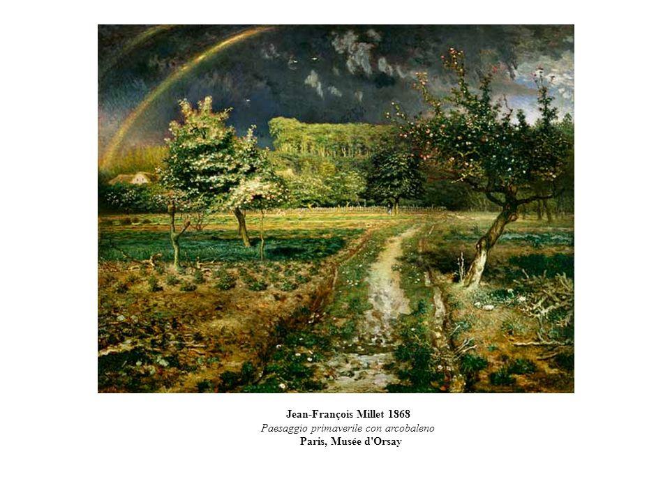 Jean-François Millet 1868 Paesaggio primaverile con arcobaleno Paris, Musée d'Orsay