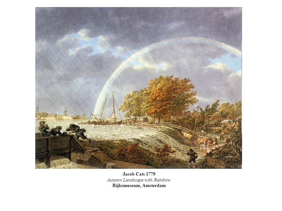 Jacob Cats 1779 Autumn Landscape with Rainbow Rijksmuseum, Amsterdam