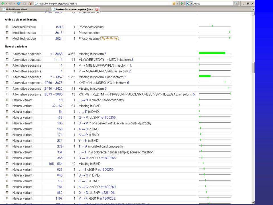 Esempio Scaricare una lista di proteine
