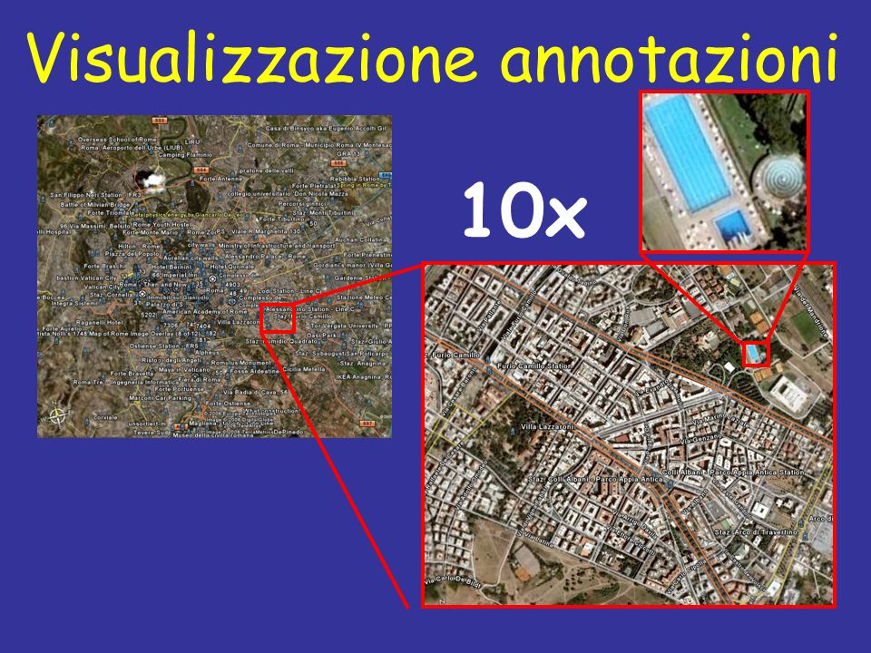 Visualizzazione annotazioni 10x
