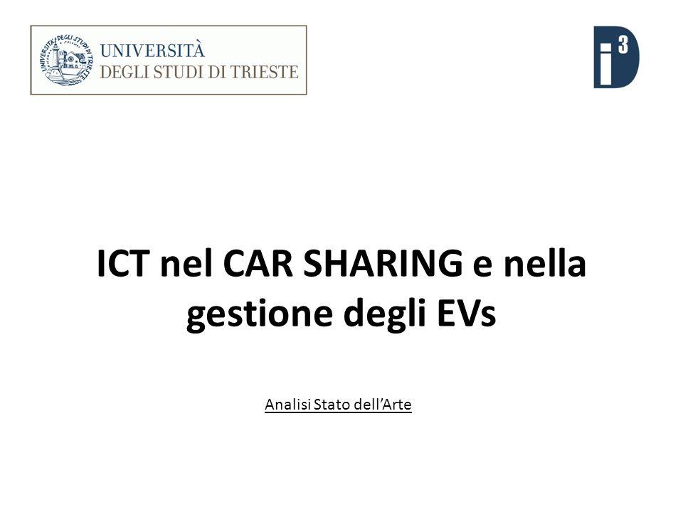 ICT nel CAR SHARING e nella gestione degli EVs Analisi Stato dellArte