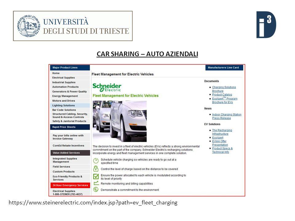CAR SHARING – AUTO AZIENDALI https://www.steinerelectric.com/index.jsp path=ev_fleet_charging