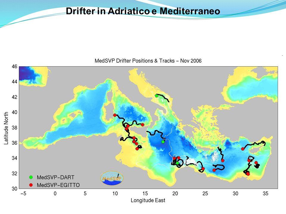 Drifter in Adriatico e Mediterraneo