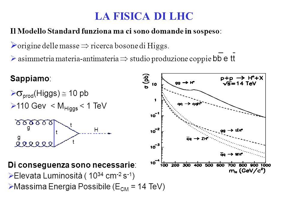 Il Modello Standard funziona ma ci sono domande in sospeso: origine delle masse ricerca bosone di Higgs.