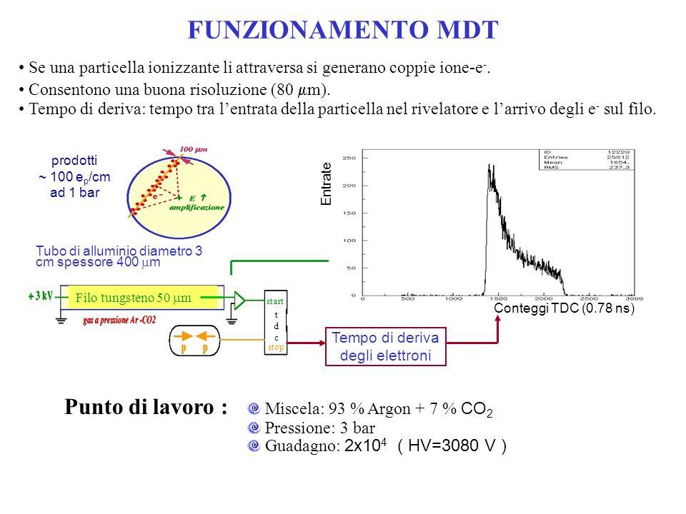 FUNZIONAMENTO MDT Se una particella ionizzante li attraversa si generano coppie ione-e -.